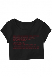 Lyrics Crop Top + Download