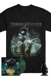 Demons & Wizards - Signed Double LP - Dark Green  - Demons & Wizards