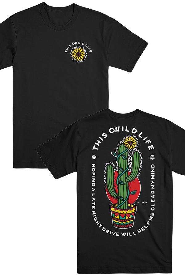 926bbc1fb This Wild Life - Cactus Tee + Figure It Out Lyric Print