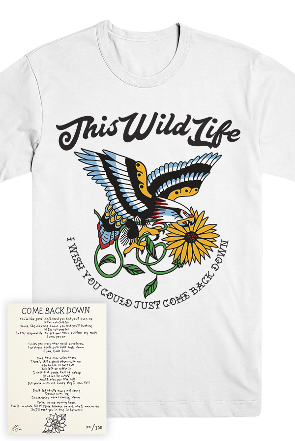 Eagle Tee + Come Back Down Lyric Print