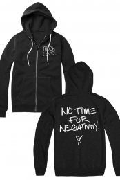 No Time For Negativity Zip-up (Black)