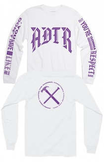 Hammer Nail Long Sleeve Tee (White)