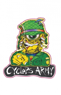 Cyclops Army Pin