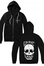 Skull Zip Up Hoodie - Grave Gang