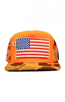 Camo Trucker Hat (Orange)