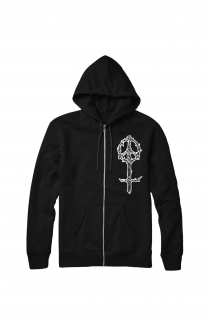 Wood Eye Zip-Up (Black)