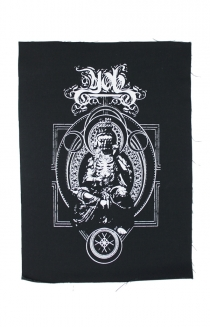 Skeleton Buddha Back Patch