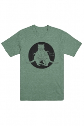 Cat Tee (Heather Green)