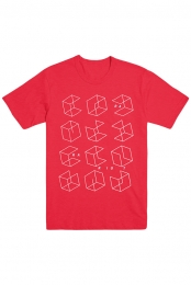 Boxes Tee (Red)