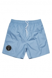 Coffin Logo Cotton Shorts (Light Blue)