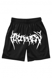Metal Logo Shorts (Black)