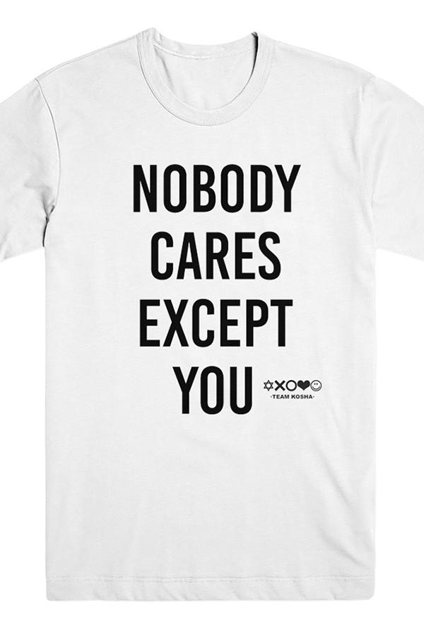 Nobody Cares Tee (White)