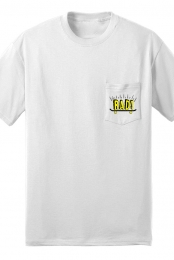 Rad Pocket Tee (White) - DudeMann Skateboards