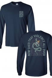 Reptile Long Sleeve Tee (Navy)