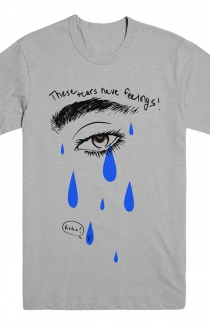 These Tears Have Feelings Tee (Heather Grey)