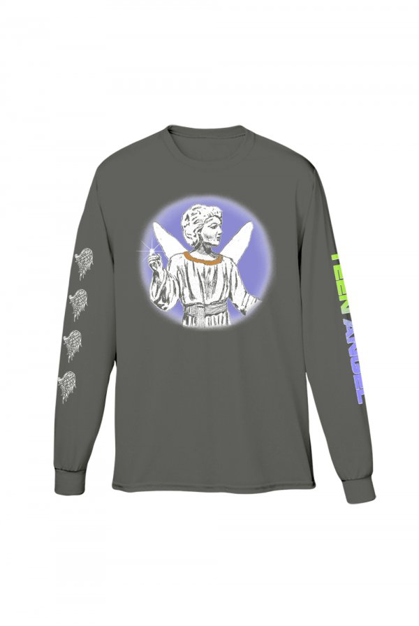 Teen Angel Long Sleeve Tee (Charcoal)