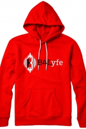 B4Lyfe Signature Line Pullover Hoodie (Red)