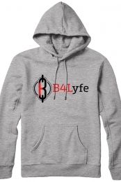 B4Lyfe Signature Line Pullover Hoodie (Grey)