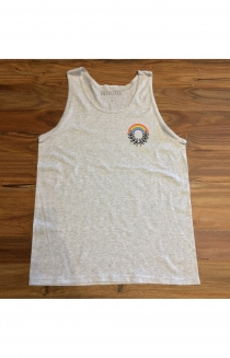 Rainbow Wreath Tank (Grey)