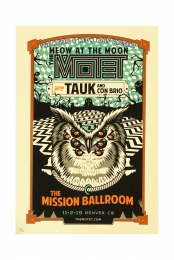 Meow at the Moon Mission Ballroom Poster