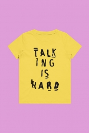 Talking Is Hard Toddler Tee