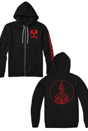 Chvrch Burner Zip Up Hoodie (Black)