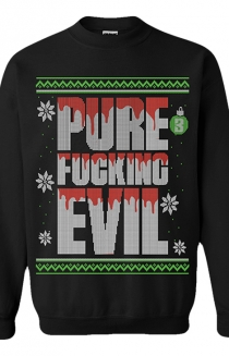 Pure Evil Christmas Sweater (Black)