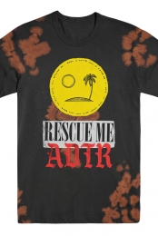 Rescue Me Tee (Black Bleach Out)