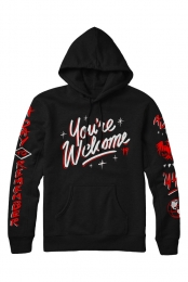 You're Welcome Pullover Hoodie (Black)