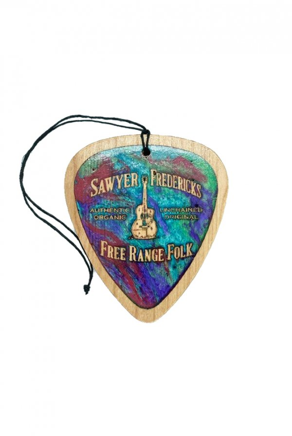 Sawyer's Free Range Folk Wood Guitar Pick Ornament (Marble)