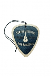 Sawyer's Free Range Folk Wood Guitar Pick Ornament (Midnight)