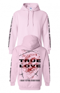 True Love Pullover Hoodie - Light Pink