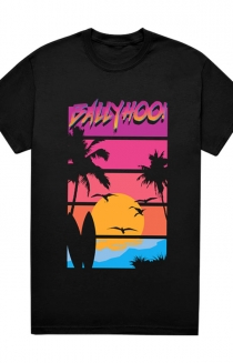 Palm Surf Sunset Tee