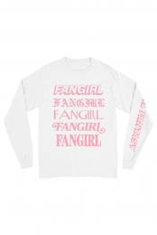 Fangirl Fantasy Long Sleeve Tee (White)