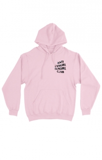 Anti Fangirl Club Pullover Hoodie (Pink)