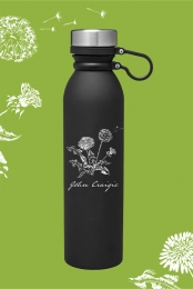 Dandelion Water Bottle (Black)