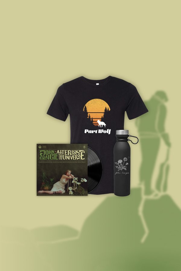 Asterisk the Universe Vinyl (signed) + Part Wolf Tee + Water Bottle