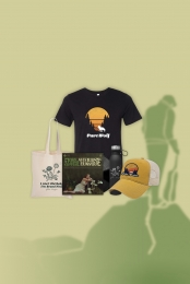 Asterisk the Universe Vinyl (signed) + Part Wolf Tee + Water Bottle + Tote Bag + Hat