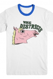 Horse Ringer Tee (White/Royal)