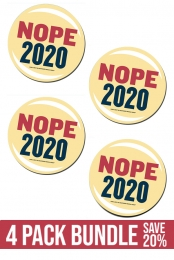 4 Pack Nope Button Bundle