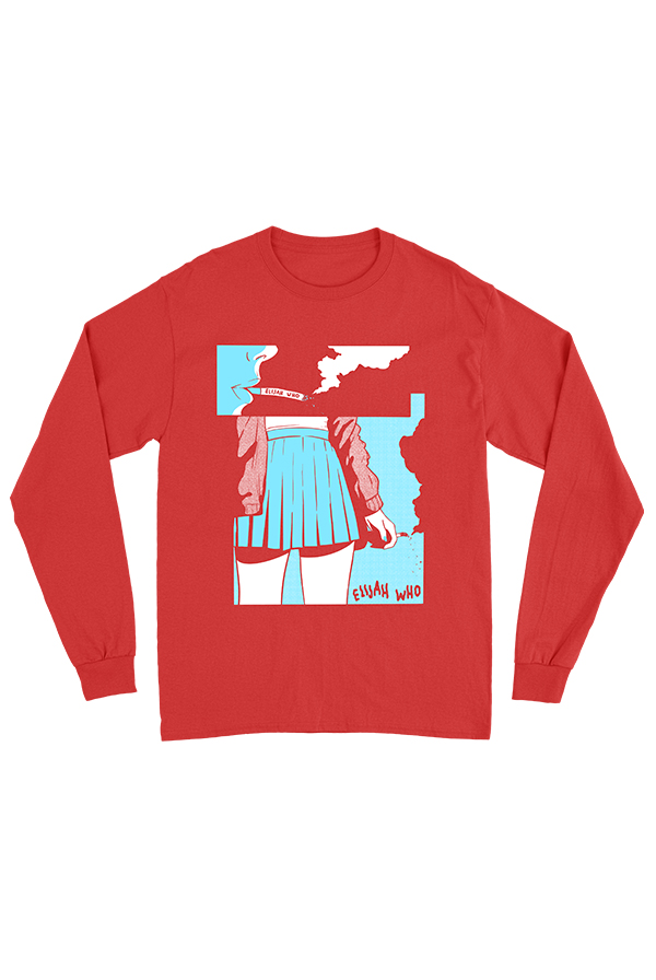 Ilana Red Long Sleeve Tee