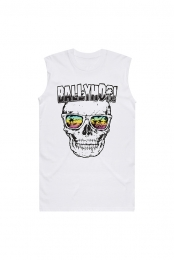 Skull in Shades Muscle Tee (White)