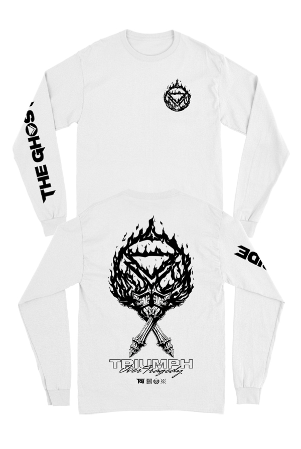 Triumph Long Sleeve Tee (White)