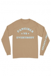 Fangirl vs Everybody Long Sleeve Tee (Sand)