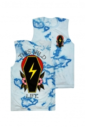Coffin Bolt Sleeveless Tee (Tie Dye)