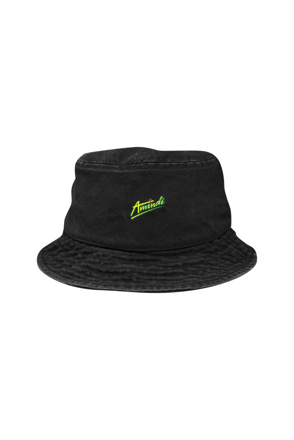 Logo Bucket Hat (Black Denim)