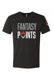 Drop Pin Tee (Black) - Fantasy Points