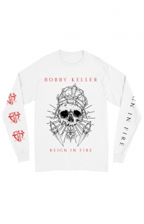 White Skull Long Sleeve Tee (White)
