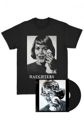 Daughters S/T Black LP + Crying Woman T-Shirt Bundle