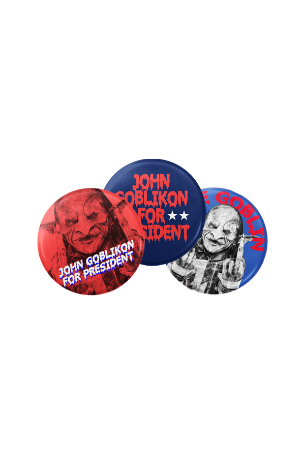 Goblin Campaign Buttons (3 Pack)